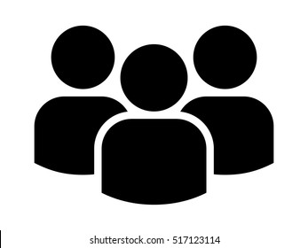 Group of people or group of users / friends flat vector icon for apps and websites