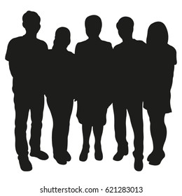 Group of People Vector Silhouette