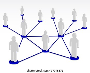 Group person on network