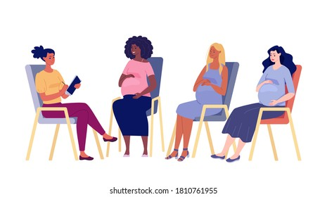 Group of psychological support for pregnant women.