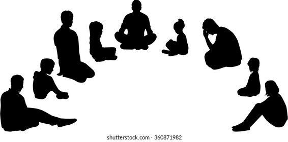 Group of seated people.