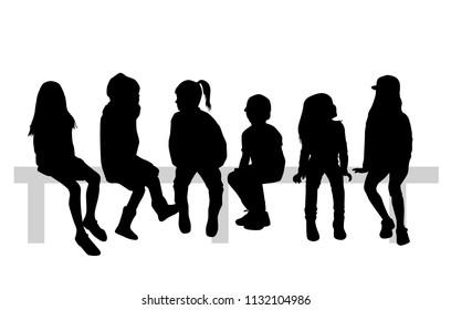 Group of sitting children.