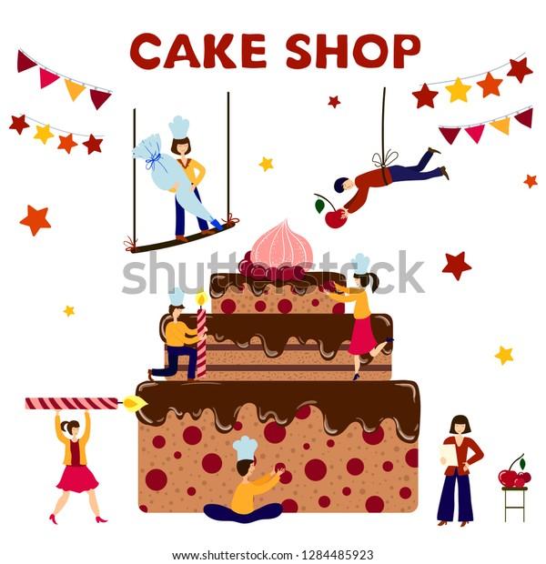 Tremendous Group Small People Men Women Cooking Stock Vector Royalty Free Birthday Cards Printable Benkemecafe Filternl