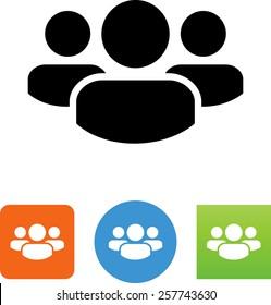 Group of three people symbol