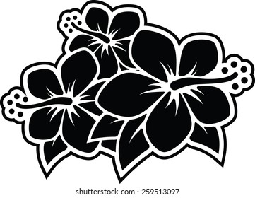 Red Hibiscus Flower Clipart Free PNG Image|Illustoon