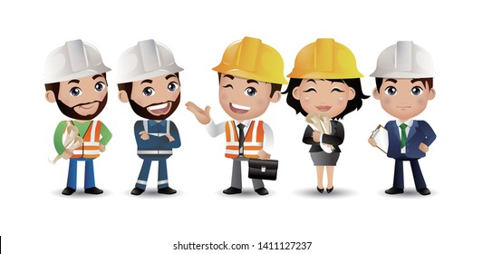 A group of worker. vector