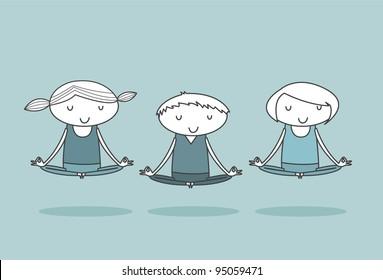 Group Yoga - Lotus Position