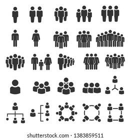 Grouping People Ilustration Icons Vector - Shutterstock ID 1383859511