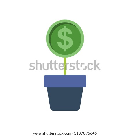 grow budget flat icon you can stock vector royalty free 1187095645
