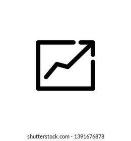 grow graph icon vector illustration