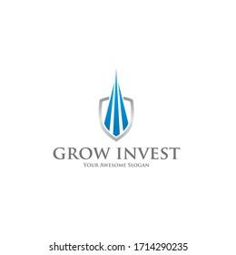 Grow Investment Logo Design Template