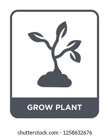 grow plant icon vector on white background, grow plant trendy filled icons from Nature collection, grow plant simple element illustration