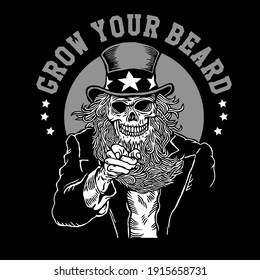 Grow Your Beard Uncle Skull Want You