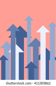 Growing up arrows. Business growth concept