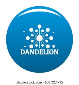 Growing dandelion logo icon. Simple illustration of growing dandelion vector icon for any design blue