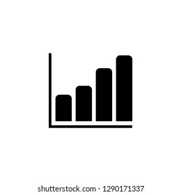 Growing Graph Icon In Flat Style Vector For Apps, UI, Websites. Black Icon Vector Illustration.