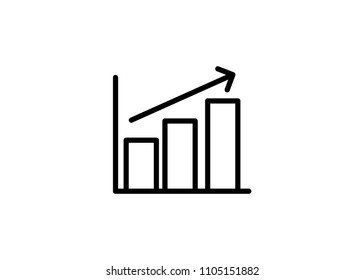 Growing Graph Icon Outline Vector