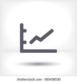 growing graph line vector icon