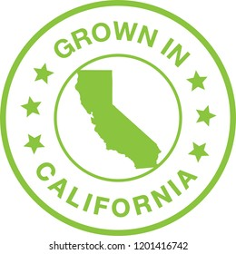 Grown In California Seal