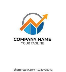 Growth Arrow Accounting Logo Template