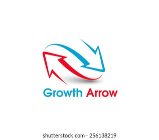 Growth Arrowt vector logo and symbol design
