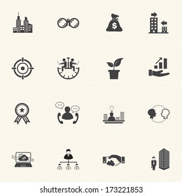 Growth of business, Business Finance Icon set