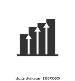 Growth Business Icon. Data Information -  Illustration As A Simple Vector Sign & Trendy Symbol for Design and Websites, Presentation or Mobile Application.