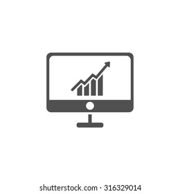 growth chart screen  icon