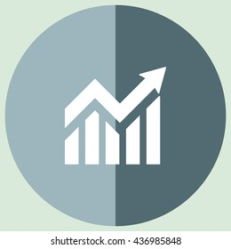 Growth Chart vector icon