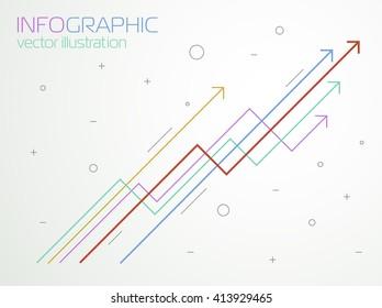 Growth charts, vector