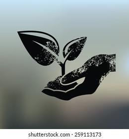 Growth design on blur background,grunge vector