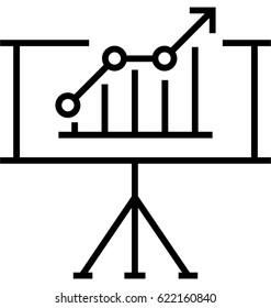 Growth graph Vector Icon