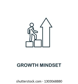 Growth Mindset icon. Thin outline creative Growth Mindset design from soft skills collection. Web design, apps, software and print usage.