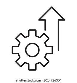 growth product icon vector operational excellence symbol cost efficiency sign for your web site design, logo, app, UI.illustration
