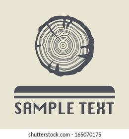 Growth rings icon or sign, vector illustration
