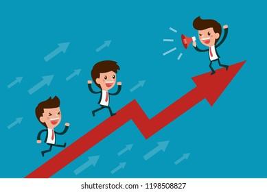 Growth teamwork concept.