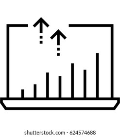 Growth Traffic Vector Icon