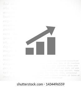 growth vector icon 10 eps , Lorem ipsum Flat design