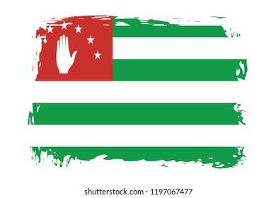 Grunge Abkhazia flag.flag of Abkhazia,banner vector illustration. Vector illustration eps10.