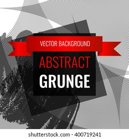 Grunge abstract background with space for inscriptions. Vector illustration EPS10