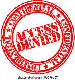Grunge access denied rubber stamp, vector illustration