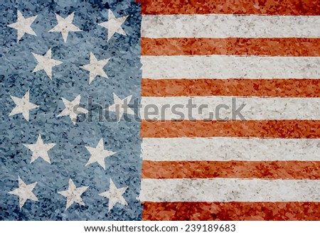 grunge american flag beige background concrete stock vector royalty