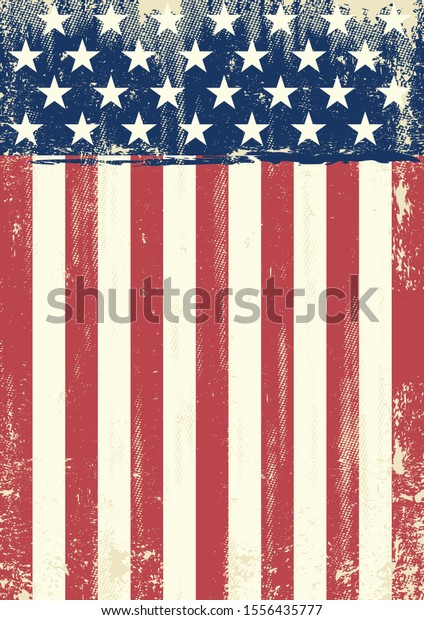 A grunge american flag for you