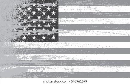 Grunge American flag.Flag of United States.