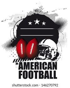 grunge american football shield