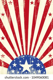 A grunge american poster for your
