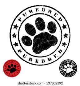 Grunge animal footprint - vector illustration