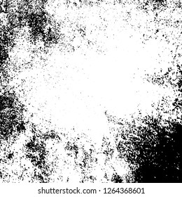 Grunge background black and white. Abstract monochrome texture. Old vintage antique surface