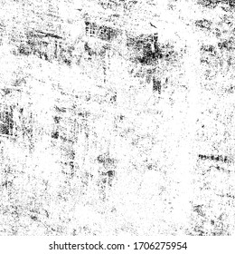 Grunge background black and white. Texture of scratches, chips, scuffs, cracks. Old vintage worn surface