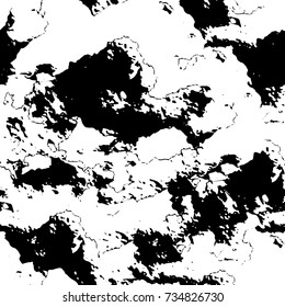 Grunge background black and white vector. Abstract monochrome seamless pattern